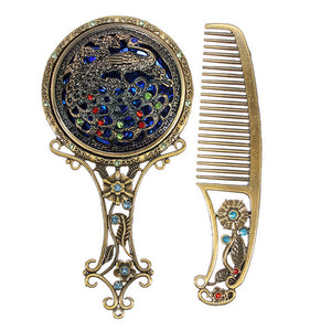 Vintage Hair Comb and Mirror-Hair Schmair