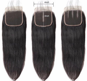 Straight Brazilian 4*4  Hair Lace Closure