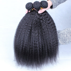 Coarse Yaki Kinky Virgin Hair Bundles