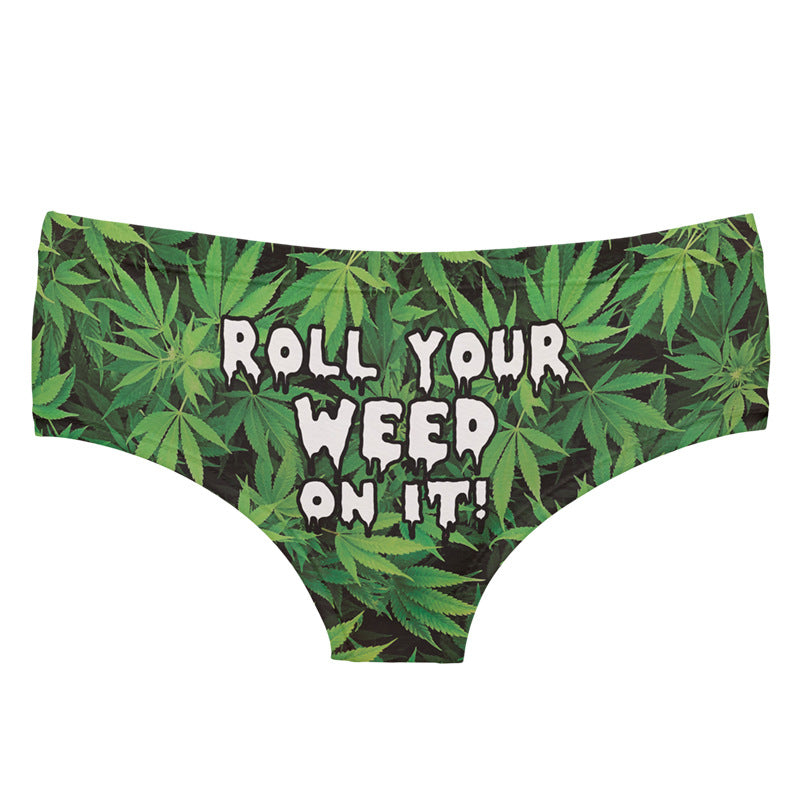 ROLL YOUR WEED Elastic Sexy Briefs