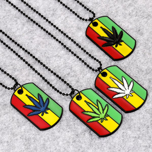 Jamaica Hemp Necklace Dog Tags