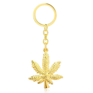 Marijuana Leaf Key Chain