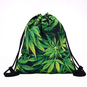 Marijuana Drawstring Backpack