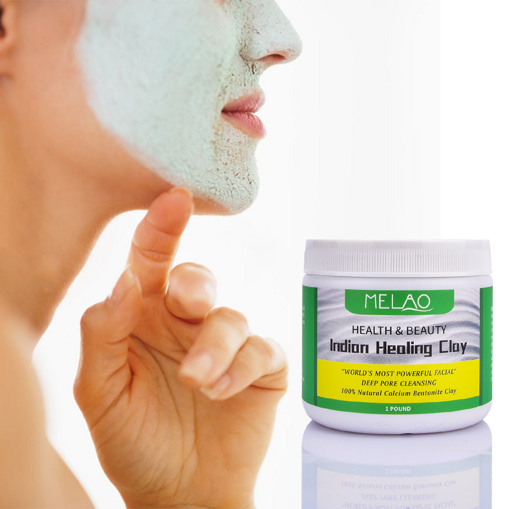 Natural Indian Healing Clay Face mask powder White Deep Skin Pore Cleansing Moisturizing Replenishment Oil Control Shrink Pores