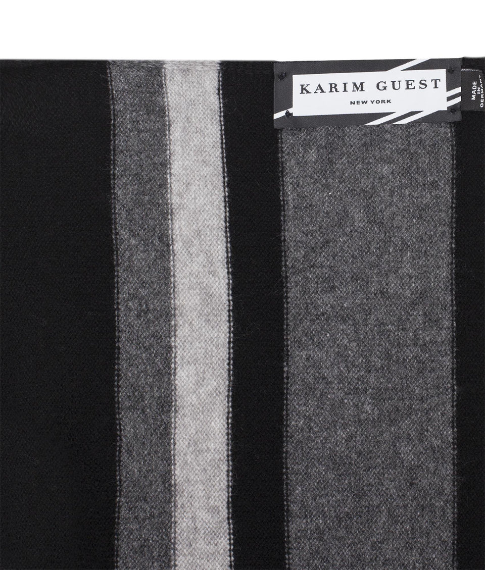 CARLTON SCARF BLACK-GREY-LIGHT GREY - Karim Guest Onlineshop