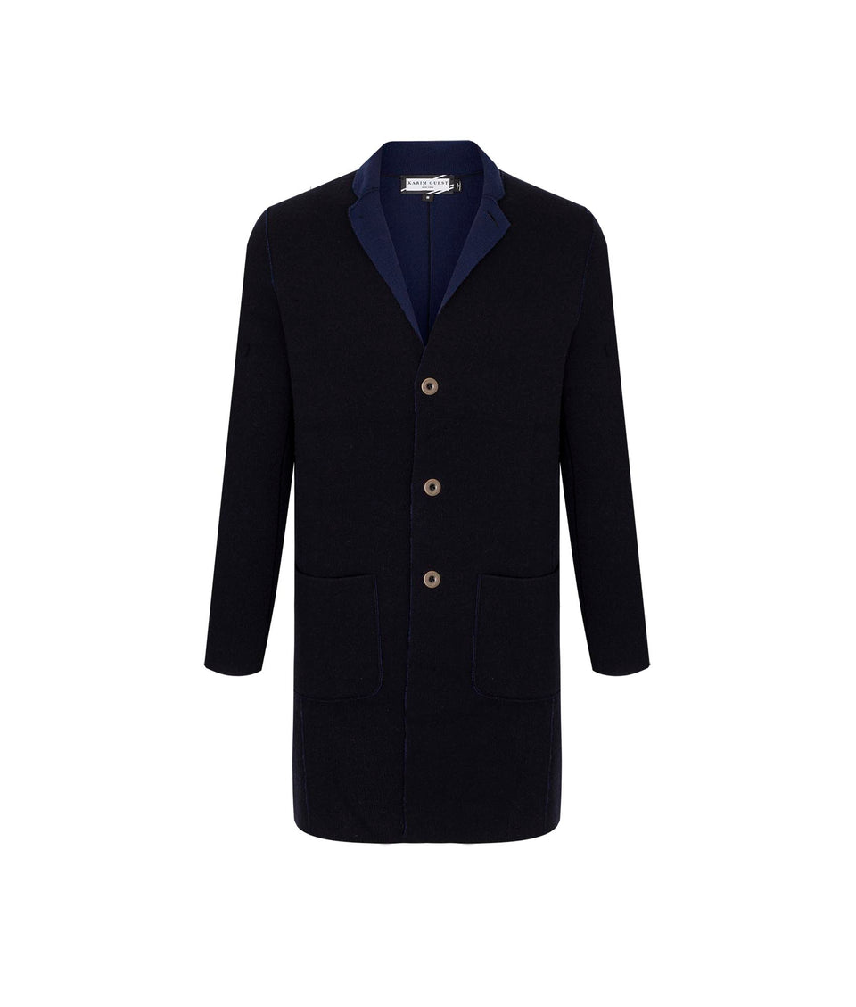 CATO COAT DARK BLUE-INK BLUE - Karim Guest Onlineshop