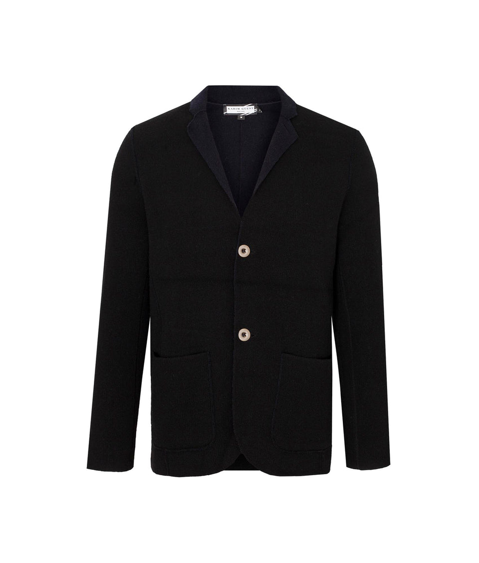CHRISTOPHER SPORT COAT BLACK-DARK BLUE - Karim Guest Onlineshop