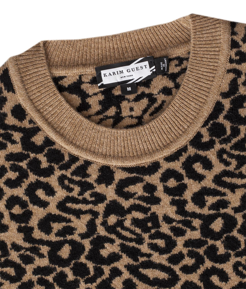 COLE SWEATER CAMEL-BLACK-OFFWHITE - Karim Guest Onlineshop