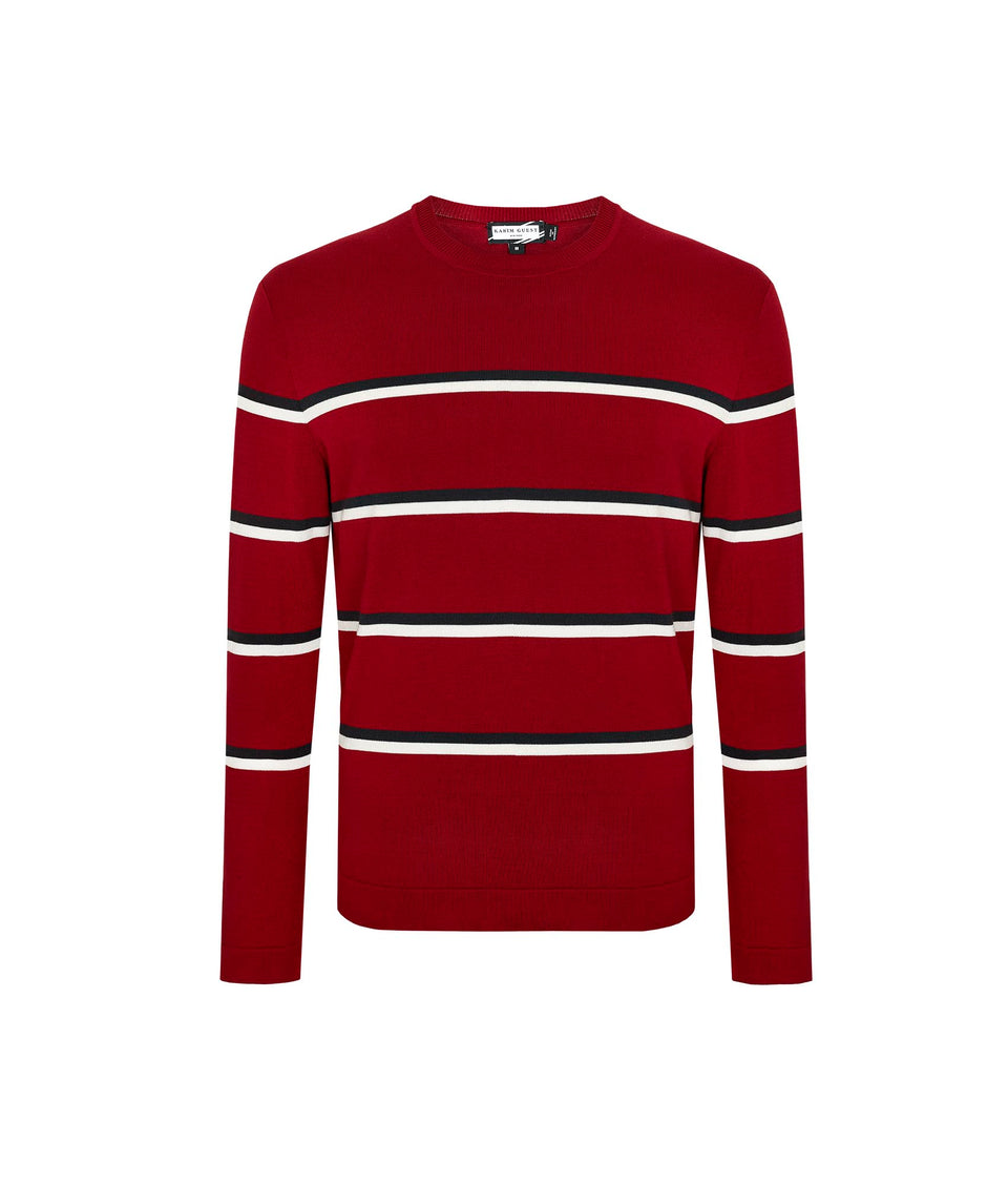 BOBBY SCARLET RED-IRON GREY-OFFWHITE