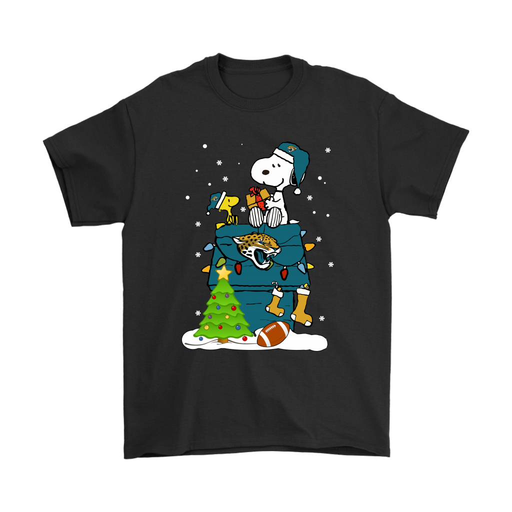 4747e58a3 A Happy Christmas With Jacksonville Jaguars Snoopy Shirts ...
