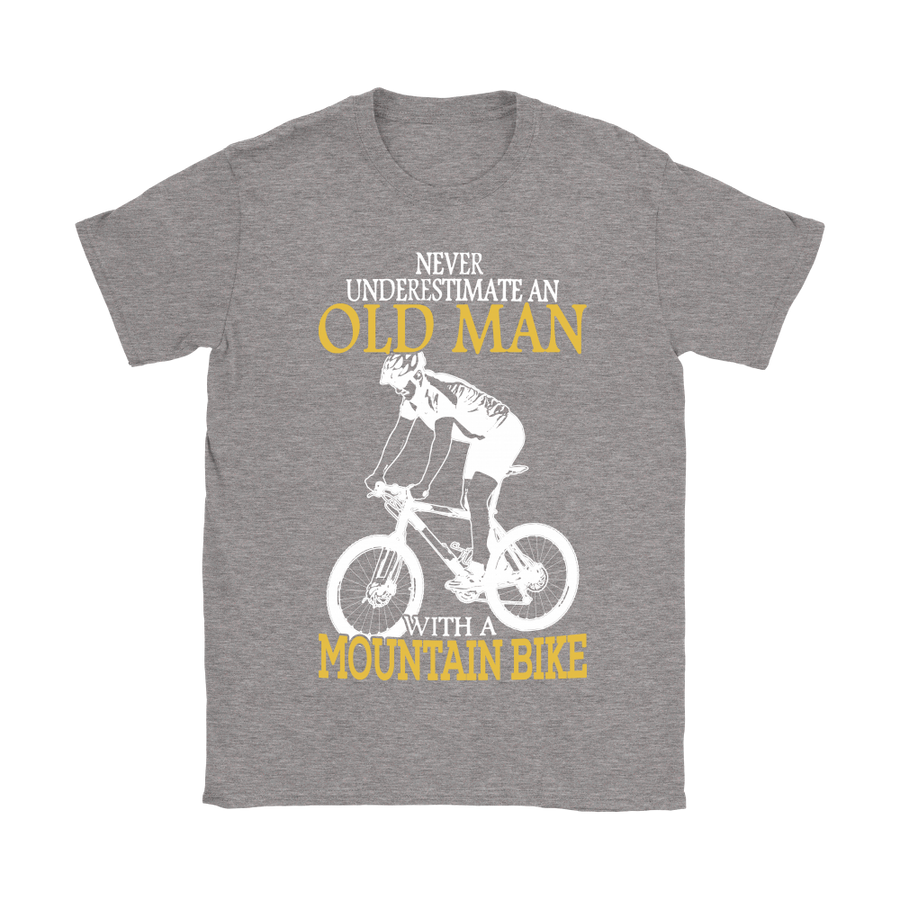 Never Underestimate An Old Man With A Mountain Bike Shirts