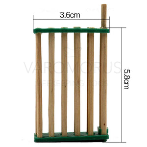 5PC Bamboo Queen Cage