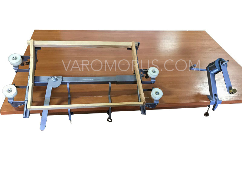 WIRE TENSIONER TABLE SYSTEM FOR BEEHIVE FRAMES
