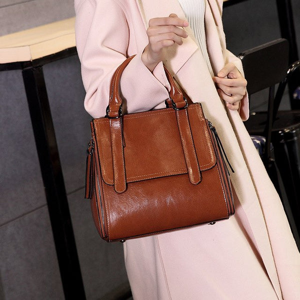 Leather  Bag - Stephany
