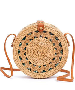 Rattan Bag  (LARGE) - Blanch
