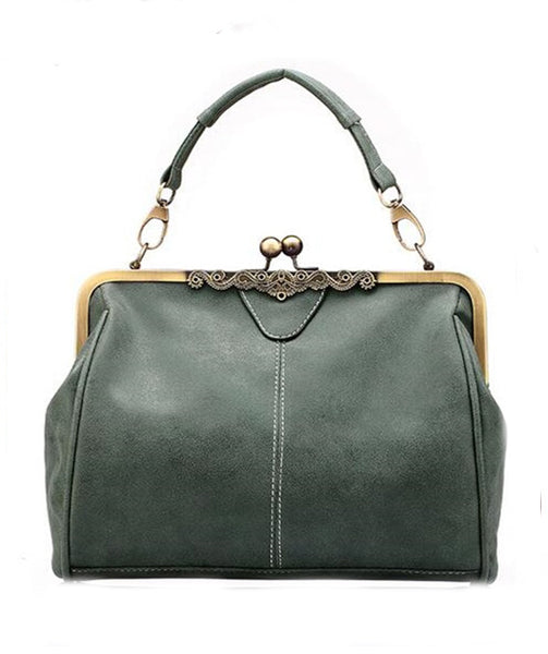 Leather  Bag - Kelly