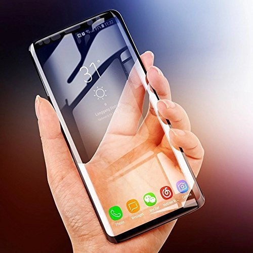 new product 9f9fd a4bd8 Samsung Galaxy S9 Plus Tempered Glass [Edge to Edge][Full Coverage][Easy to  Install][Bubble Free][Anti-Scratch][Case Friendly][Dot Free] Tempered ...