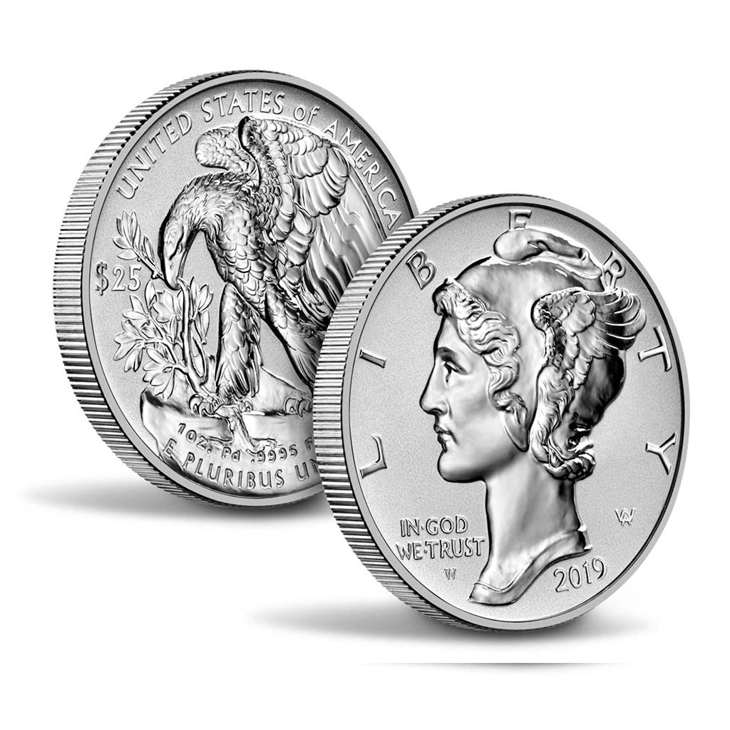 United States Mint Reverse Proof Palladium Coins On Sale September 12 (Delayed Release)