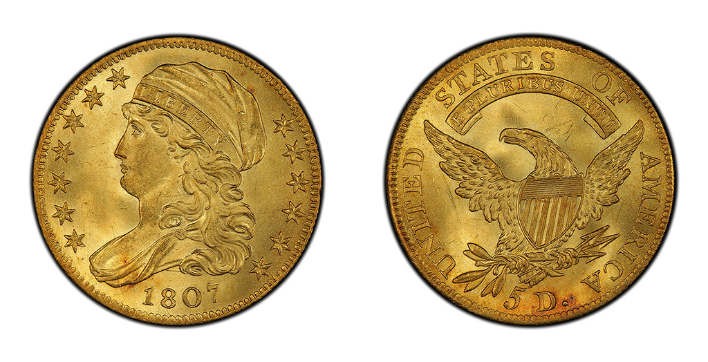 $5 Gold Capped Bust Half Eagles