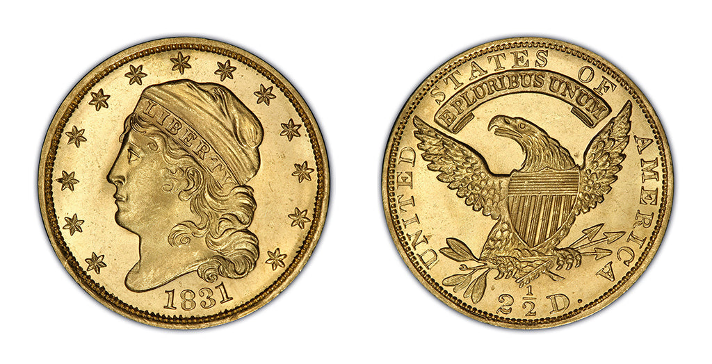 $2.50 Gold Capped Bust Quarter Eagles