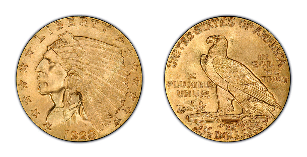 $2.50 Gold Indian Head Quarter Eagles