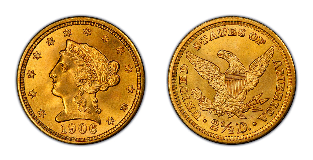 $2.50 Gold Liberty Head Quarter Eagles