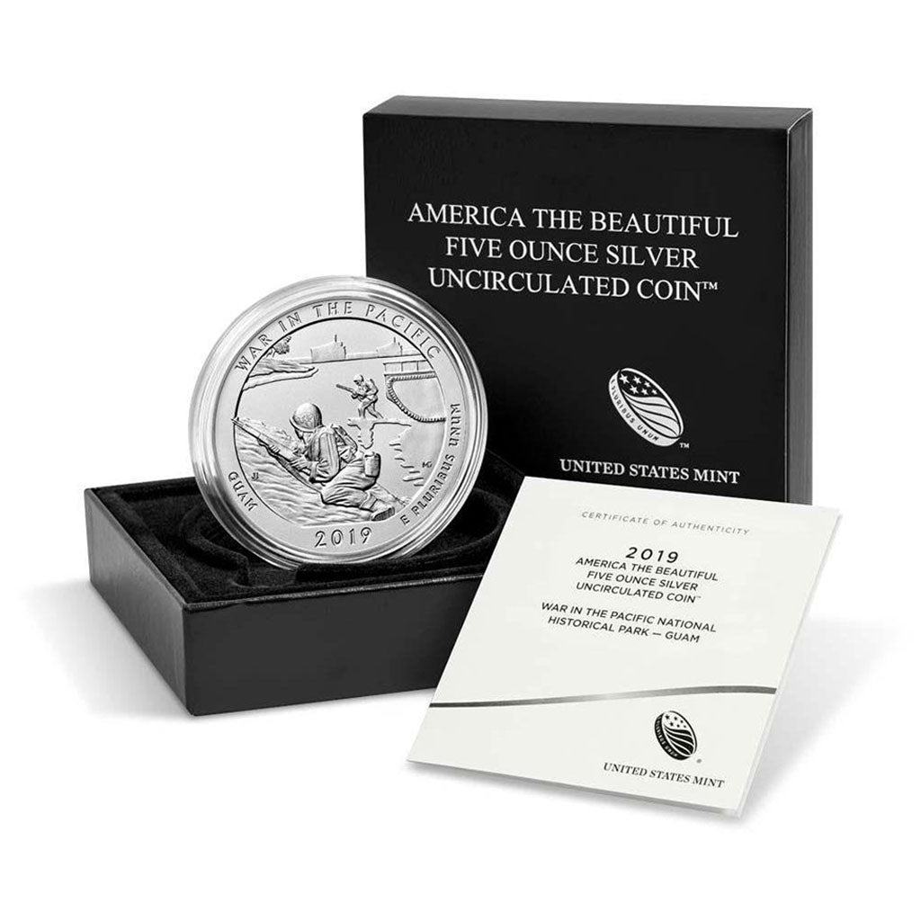 America The Beautiful 5 oz Coins (Burnished)