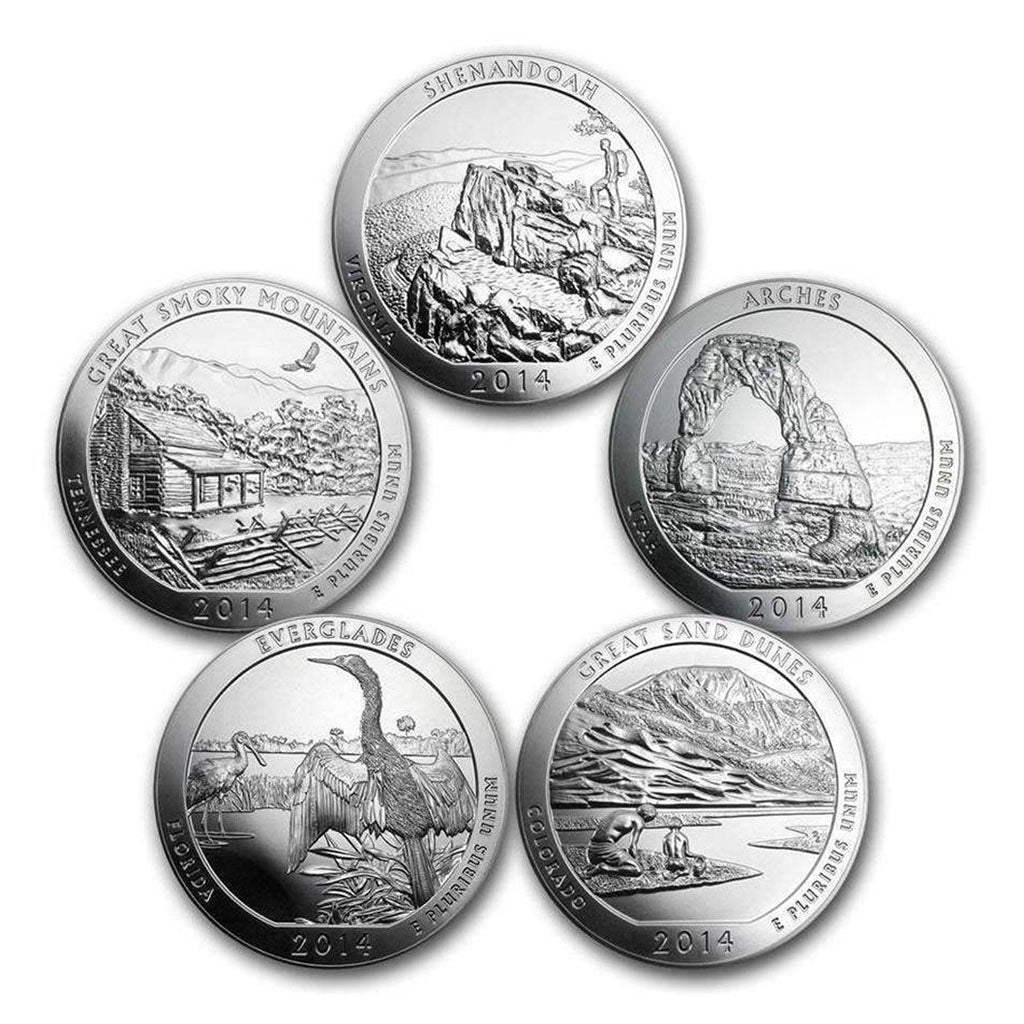America The Beautiful 5 oz Coins (Sets)
