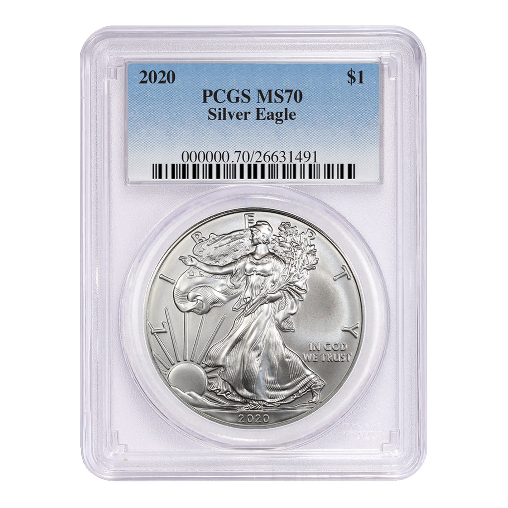 American Silver Eagles (Mint State - PCGS Certified)