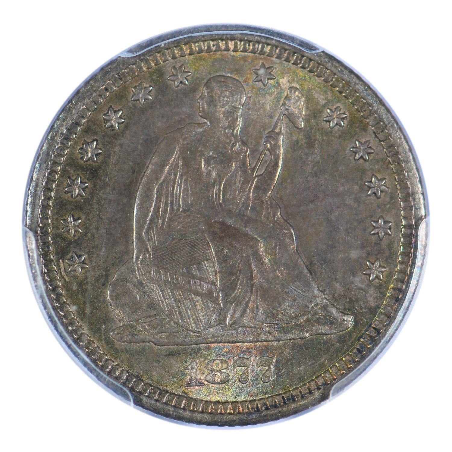 1877-CC Seated Liberty Quarter PCGS MS63