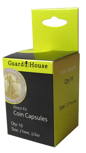1/2 oz Gold Eagle Direct-Fit Coin Capsules - 10 Pack
