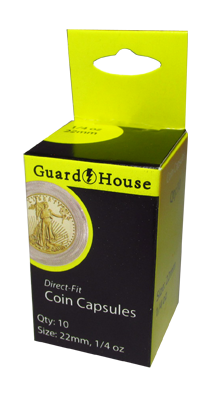 1/4 oz Gold Eagle Direct-Fit Coin Capsules - 10 Pack