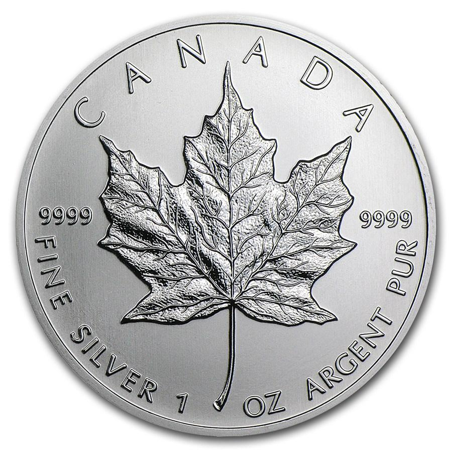 Canada 1 oz Silver Maple Leaf Mint State (Random Year)