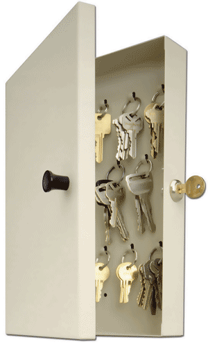 14 Key Hook-Style Key Cabinet