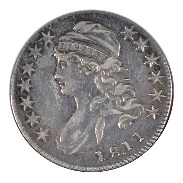 "1811 Capped Bust Half Dollar ""Small 8"" Extra Fine Condition #190763"