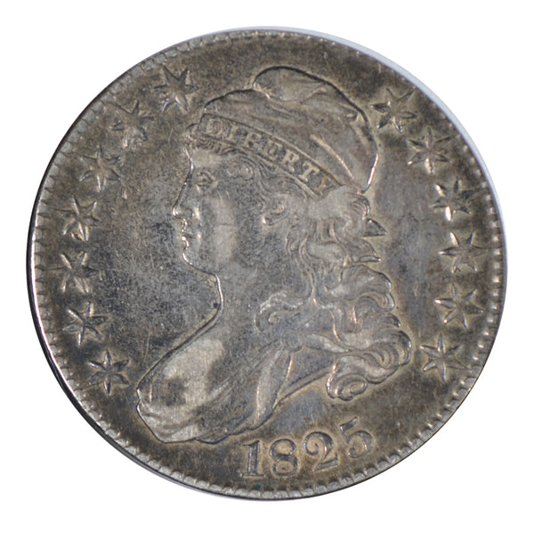 1825 Capped Bust Half Dollar Very Fine Good Condition #198656