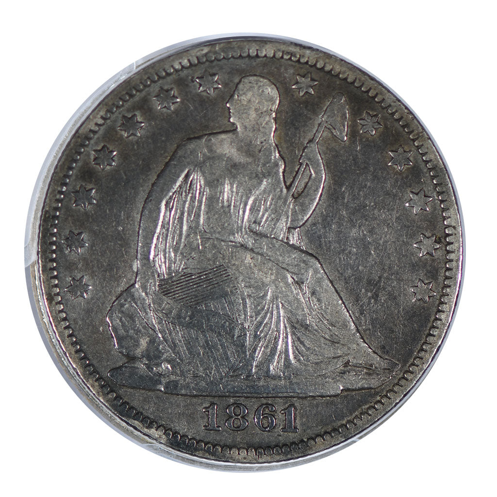 1861 Seated Liberty Half Dollar Very Fine