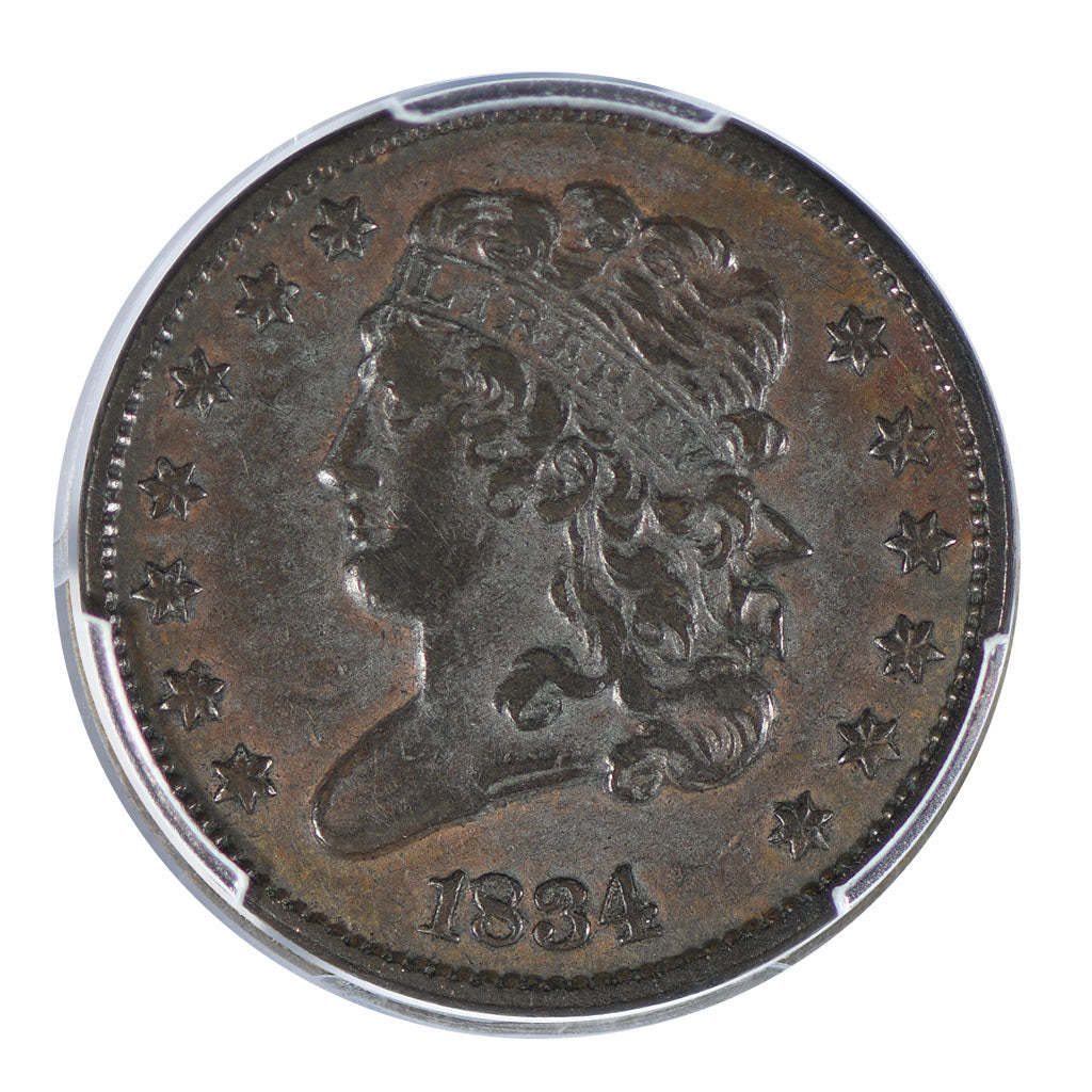 1834 Classic Head Half Cent PCGS XF Detail