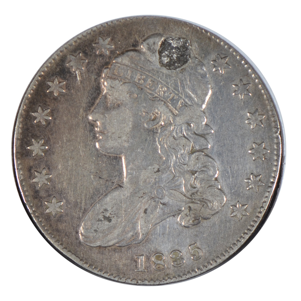 1835 Capped Bust Half Dollar, Holed, Fine