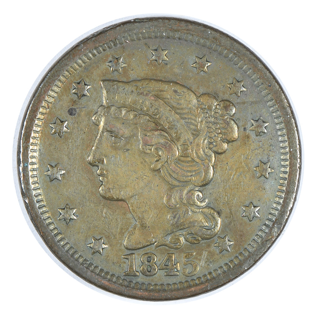 1845 Braided Hair Large Cent Fine