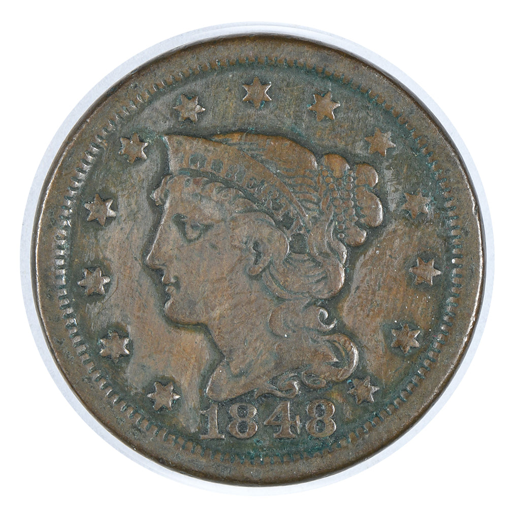 1848 Braided Hair Large Cent Fine