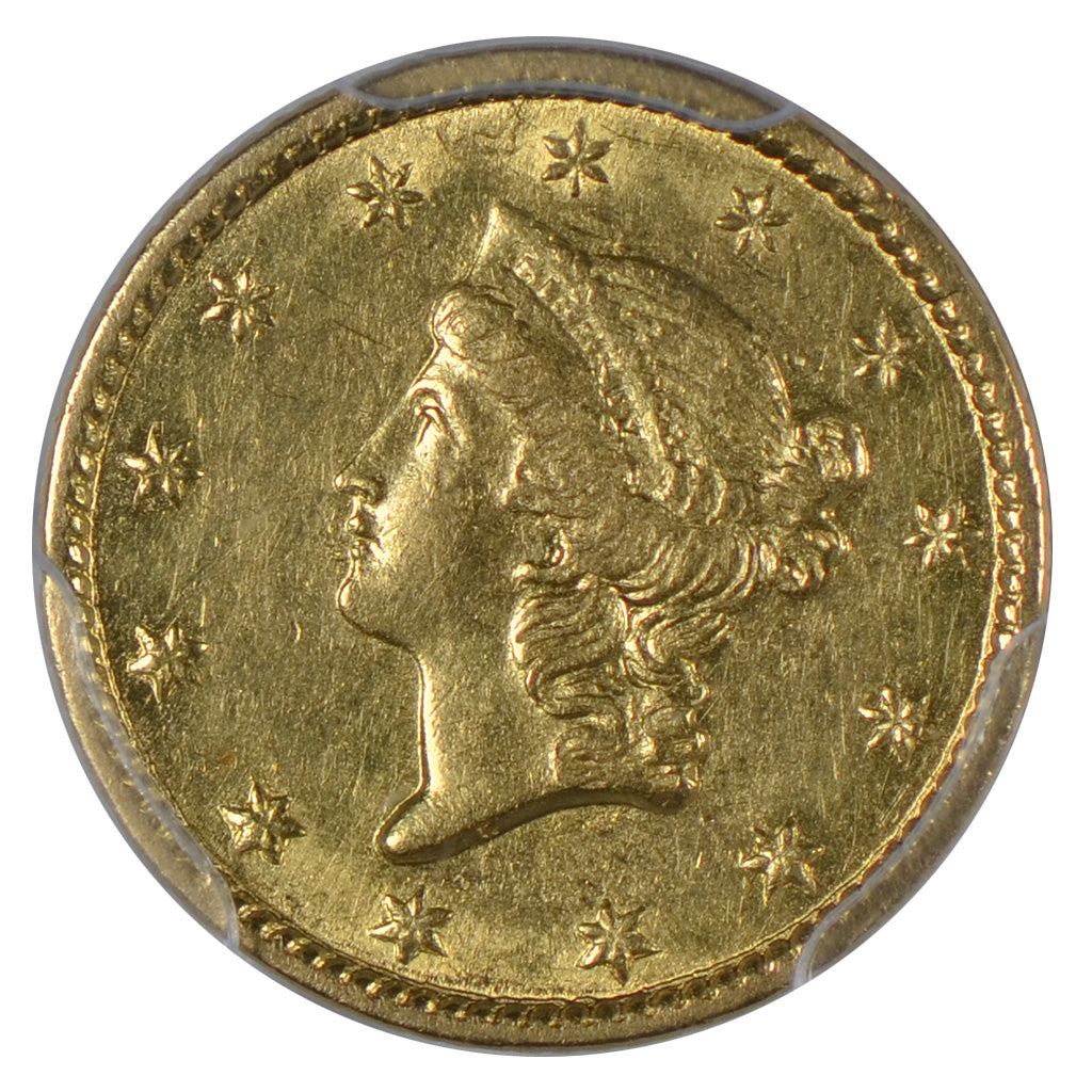 1851-C $1 Gold Liberty Head Type 1 PCGS AU53