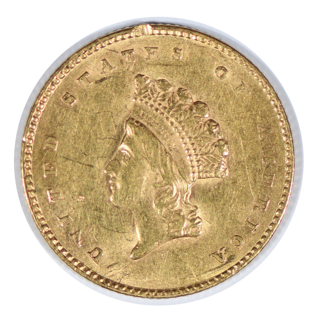 1855 $1 Gold Indian Princess Type 2 Extra Fine