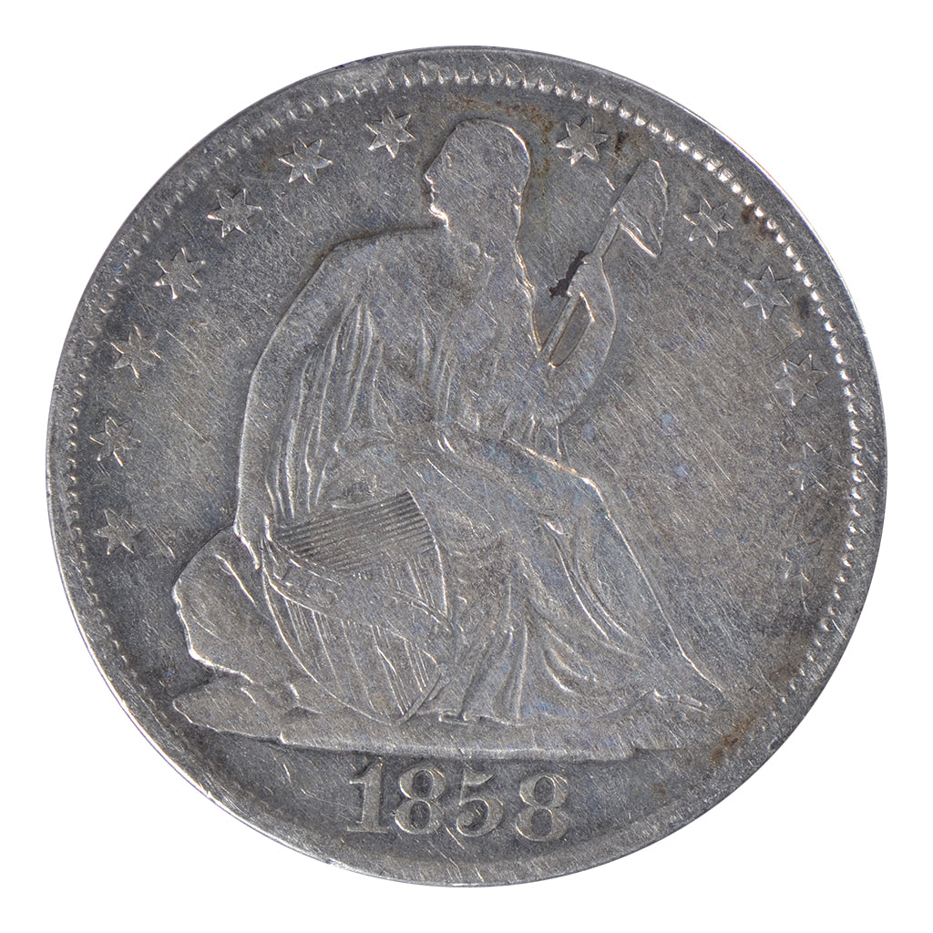 1858-O Seated Liberty Half Dollar Very Fine