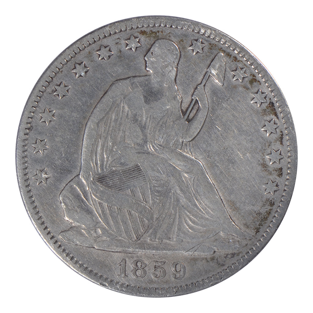 1859-O Seated Liberty Half Dollar Very Fine