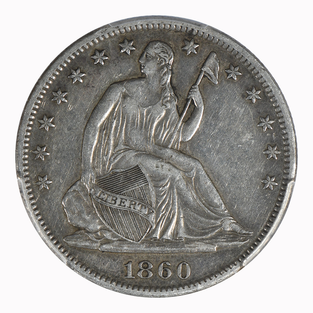 1860-S Seated Liberty Half Dollar PCGS XF45