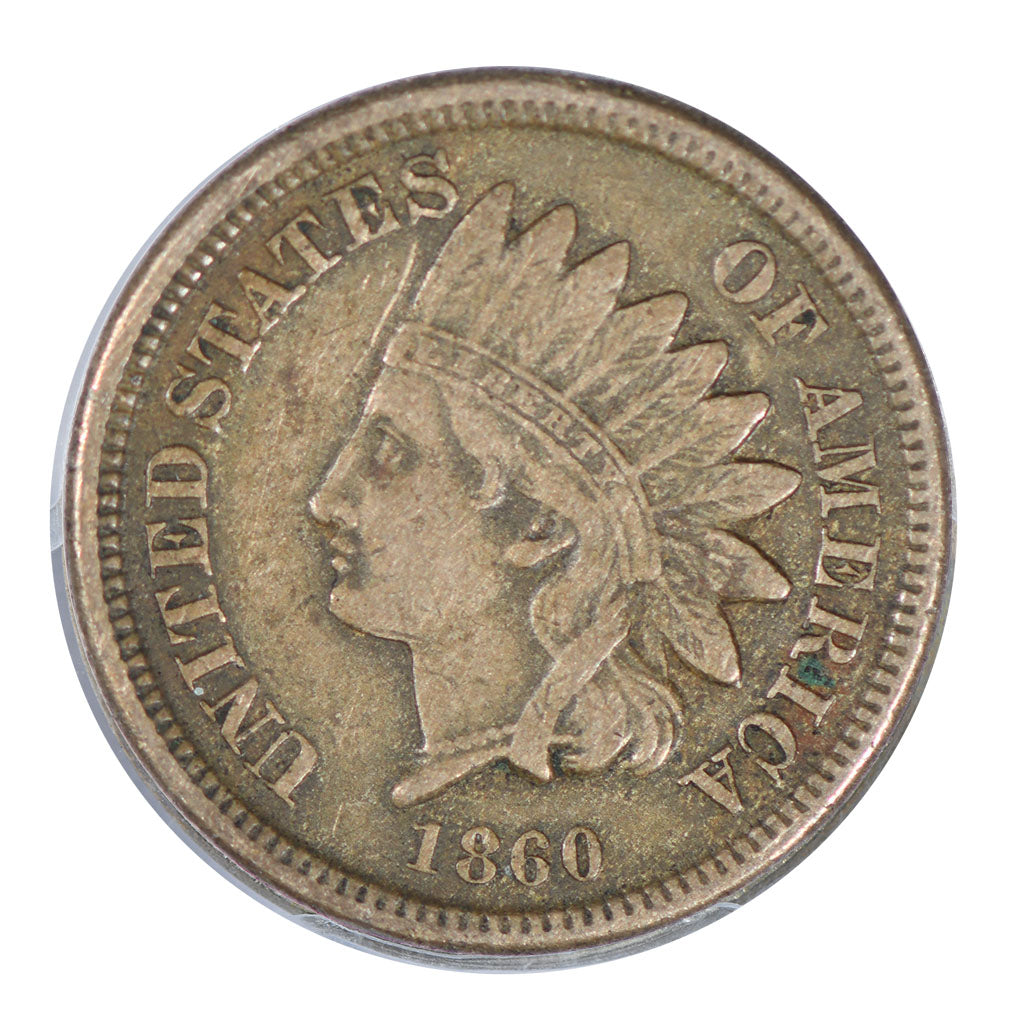 1860 Indian Cent Very Fine
