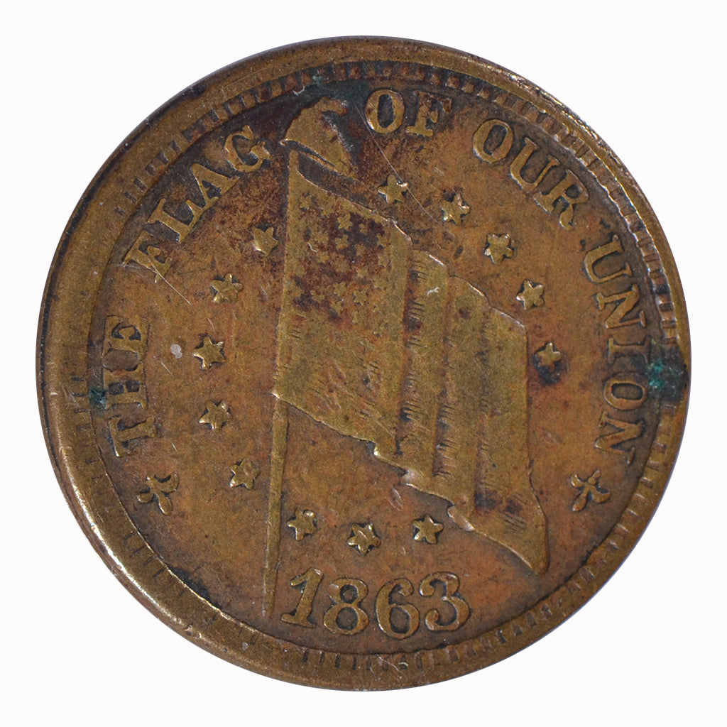 1863 Civil War Token Fine Condition