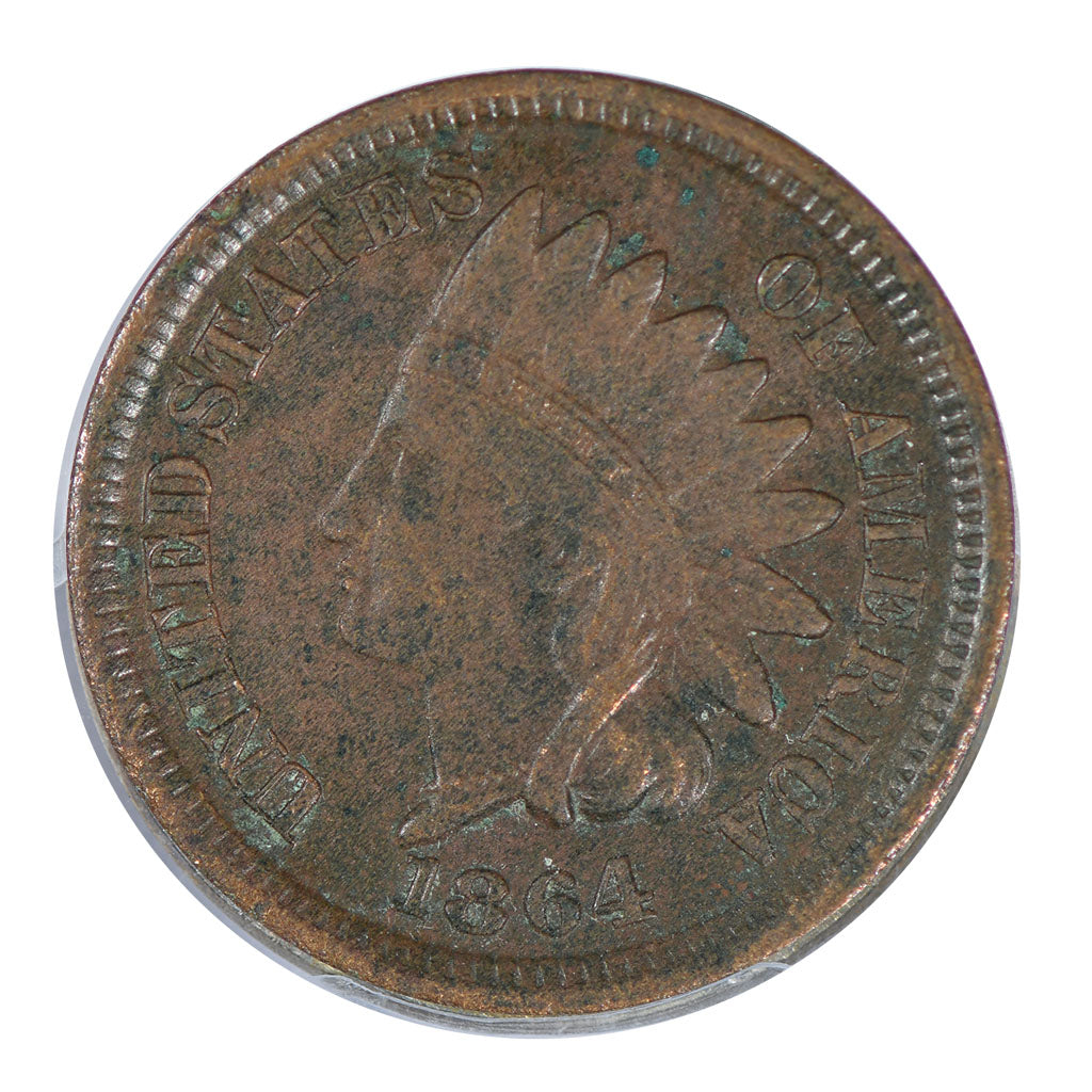 1864 Indian Cent Bronze Very Fine