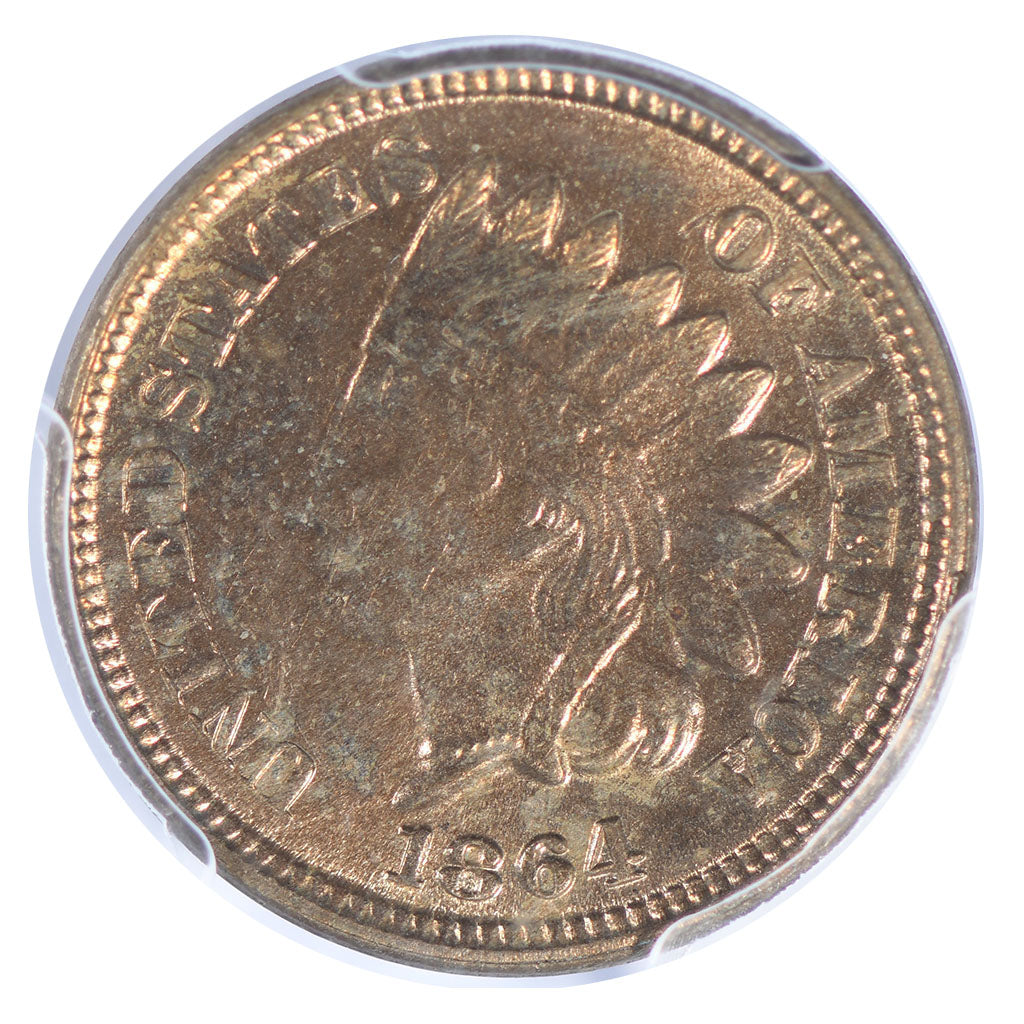 1864 Indian Head Cent PCGS MS64
